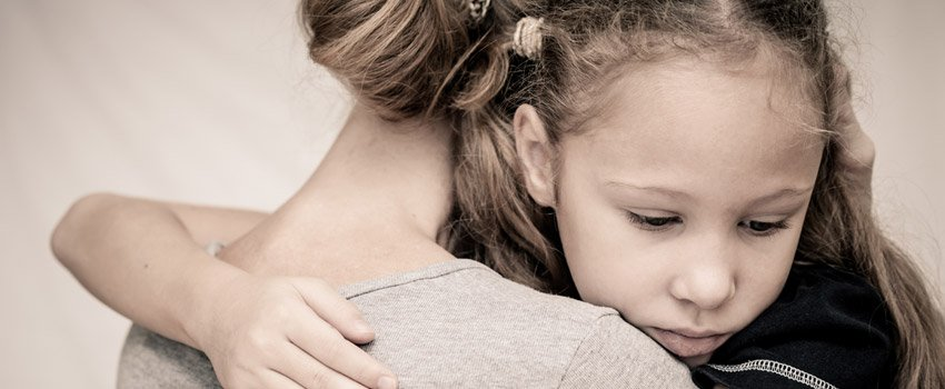 Image of girl after losing father